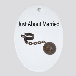 Just About Married Oval Ornament