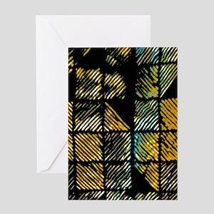 Diagonal Squares Greeting Cards