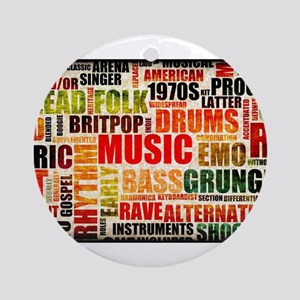 Music Themed Ornament (Round)