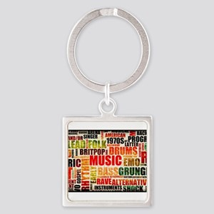 Music Themed Square Keychain