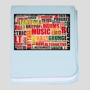 Music Themed baby blanket