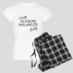 Crazy Alaskan Malamute Lady Pajamas