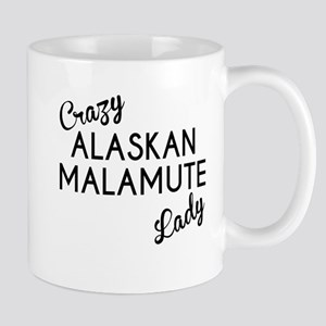 Crazy Alaskan Malamute Lady Mugs