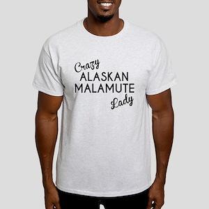 Crazy Alaskan Malamute Lady T-Shirt