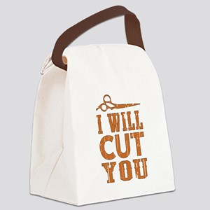 I Will Cut You Canvas Lunch Bag