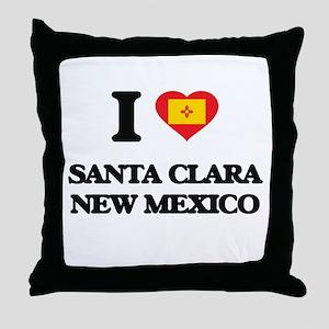 I love Santa Clara New Mexico Throw Pillow