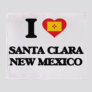 I love Santa Clara New Mexico Throw Blanket