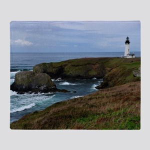 Yaquina Head Lighthouse Throw Blanket