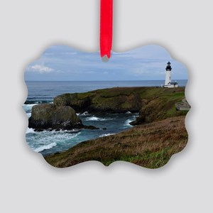 Yaquina Head Lighthouse Picture Ornament
