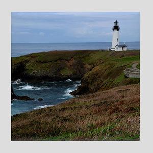 Yaquina Head Lighthouse Tile Coaster