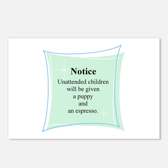 Unattended Children Rules - Postcards