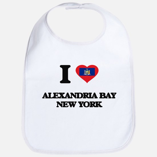 I love Alexandria Bay New York Bib