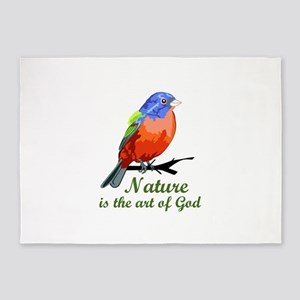 Nature Is The Art Of God 5'x7'Area Rug