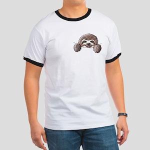 KiniArt Pocket Sloth Ringer T