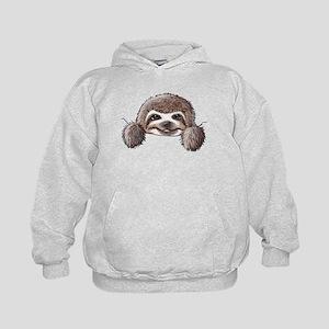 KiniArt Pocket Sloth Kids Hoodie