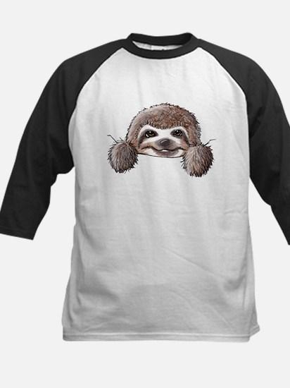 KiniArt Pocket Sloth Kids Baseball Jersey