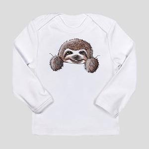 KiniArt Pocket Sloth Long Sleeve Infant T-Shirt