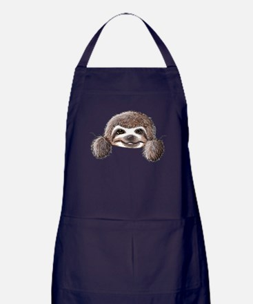 KiniArt Pocket Sloth Apron (dark)