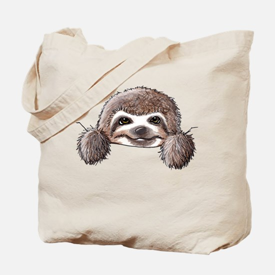 KiniArt Pocket Sloth Tote Bag