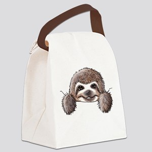 KiniArt Pocket Sloth Canvas Lunch Bag