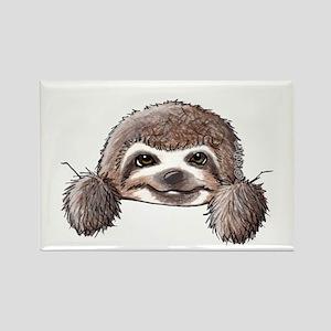 KiniArt Pocket Sloth Rectangle Magnet