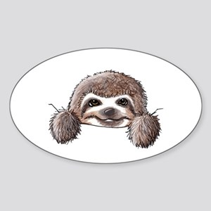 KiniArt Pocket Sloth Sticker (Oval)