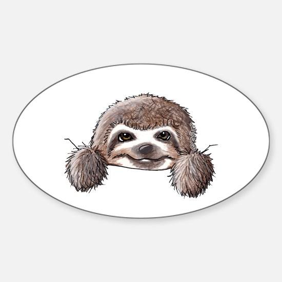 KiniArt Pocket Sloth Sticker (Oval)