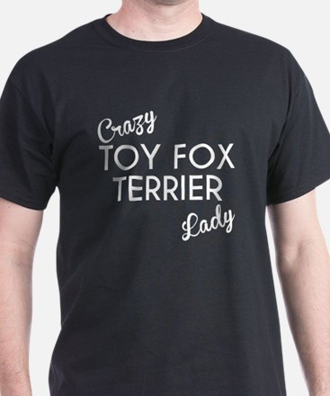 Crazy Toy Fox Terrier Lady T-Shirt