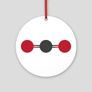 carbon dioxide molecular structure Round Ornament