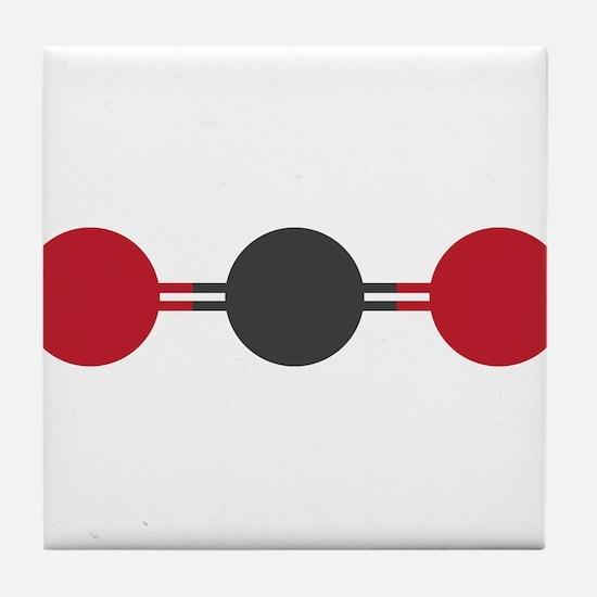 carbon dioxide molecular structure Tile Coaster