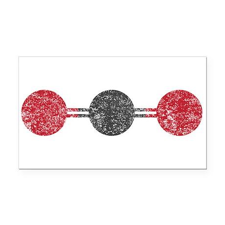 co2 molecule Rectangle Car Magnet