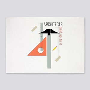 Architects Build Up To It 5'x7'Area Rug