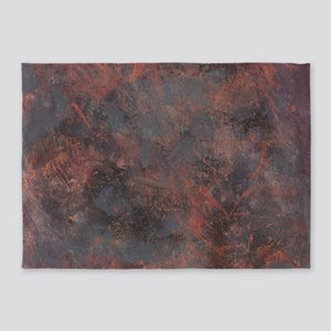 Noisy | Dark Modern Hand-Painted Or 5'x7'Area Rug