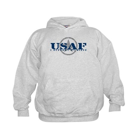 I Support My Niece - Air Force Kids Hoodie