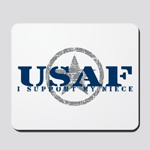 I Support My Niece - Air Force Mousepad