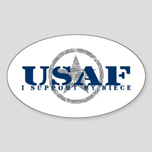 I Support My Niece - Air Force Oval Sticker