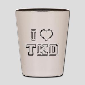 I Love TKD Shot Glass