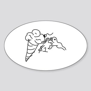 1 Dollar Lick Sticker (Oval)