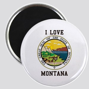 I Love Montana Magnets
