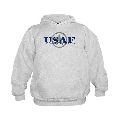 I Support My Nephew - Air Force Kids Hoodie
