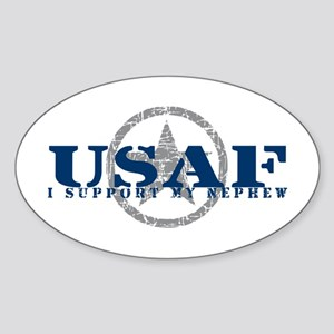 I Support My Nephew - Air Force Oval Sticker