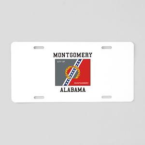 Montgomery Alabama Aluminum License Plate