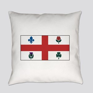Montreal Quebec Flag Everyday Pillow