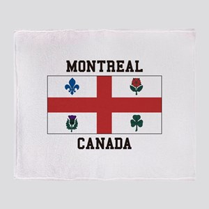 Montreal Canada Throw Blanket