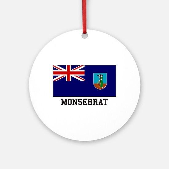 Monserrat Flag Ornament (Round)