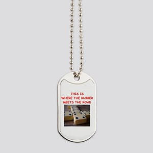 dominoes joke Dog Tags
