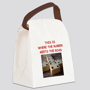 dominoes joke Canvas Lunch Bag