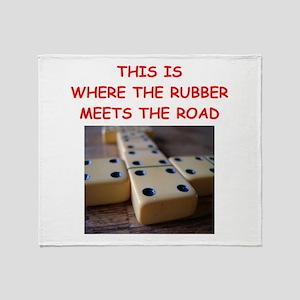 dominoes joke Throw Blanket