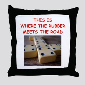 dominoes joke Throw Pillow
