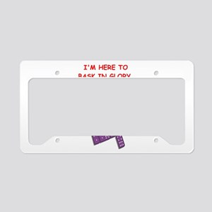 dominoes joke License Plate Holder